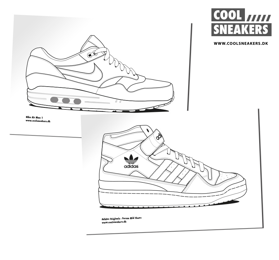 Adidas free colouring pages for Sneaker coloring page printable